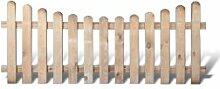 Klassische Friesenzaun Zaunfelder günstig Maß 200 x 80 auf 65 cm (Breite x Höhe) aus Kiefer / Fichte Holz, druckimprägniert + genagel