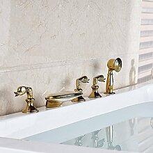 Klassische Gold-Plate Wasserfall Badewanne Wanne