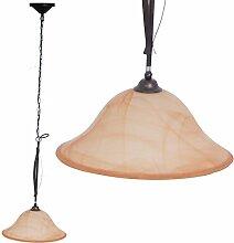 Klassische Hänge Leuchte Decken Pendel Lampe Glas