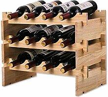 Klassische hölzerne Weinflaschenhalter