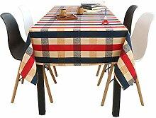Klassische Karierte Tischdecke Aus Baumwolle Und