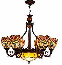 Klassische Kunst Tiffany-Buntglas-Kronleuchter 32