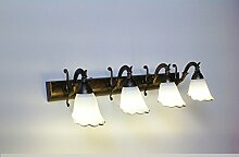 Klassische LED Europäische Spiegel Vorne Lampe Bad Lampe Spiegel Lampe Lampe Lampe ( größe : Four-64*18cm )