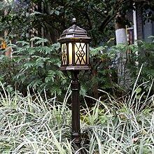 Klassische Rasen Lampe im freien Regen Sonnenschutz Rasen Lampe Vase Pole Lampe Garten Stehleuchte