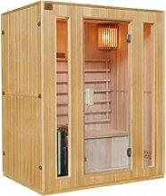Klassische Sauna 3 Plätze + Ofen HARVIA 3500W -