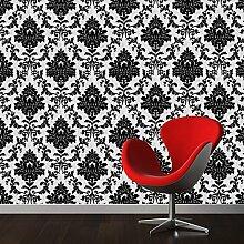Klassische schwarze Wohnzimmer Drucken Schlafzimmer Nacht Tapete 53X1000cm