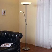 LED Stehlampe Eda Messing Matt Deckenfluter Lampenwelt Leseleuchte Dimmer LEDs