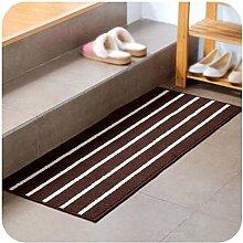 Klassische Streifen einfache Matratze Matratze, Küche Bad Tür, lange Streifen von rutschfesten Matten wasserdicht , #3 , 43*110cm