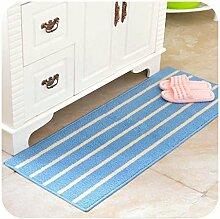 Klassische Streifen einfache Matratze Matratze, Küche Bad Tür, lange Streifen von rutschfesten Matten wasserdicht , #2 , 43*110cm