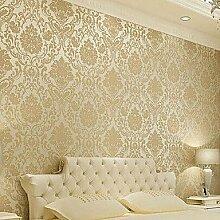 Klassische Tapeten Rollen für Wohnzimmer Schlafzimmer TV-Kulisse Wandverkleidung Vliesstoff Wall Ar