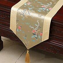 Klassische Tischl?ufer/Couchtisch europ?ischer moderne runder Tisch Tuch-Q 33x200cm(13x79inch)