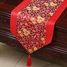 Klassische Tischl?ufer/Couchtisch europ?ischer moderne runder Tisch Tuch-M 33x150cm(13x59inch)