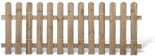 Klassische Vorgartenzäune + Friesenzäune günstig Maß 200 x 80 cm (Breite x Höhe) aus Kiefer / Fichte Holz, druckimprägniert + genagel