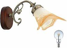 Klassische Wand Leuchte Beleuchtung Energie Spar Lampe im Set inklusive LED Leuchtmittel