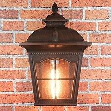 Klassische Wandlampe in antik braun E27 max. 60W,