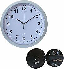 Klassische Wanduhr mit Quartz Uhrwerk und Geheimfach