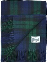 Klassische Wolldecke in schottischen Karomuster in Schossgrösse Black Watch