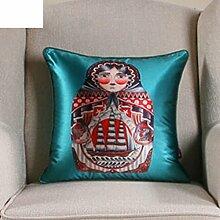 Klassischen Stil-Kissen/PP Cotton Belt Kissen/Seide-Sofa-Bett Umarmung Kissenbezug-B 60x60cm(24x24inch)VersionA
