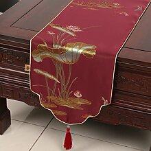 Klassischen Tisch Schienenabdeckung/Couchtisch-Tuch/Europ?isch anmutenden modernen Esstisch Tuch-B 33x270cm(13x106inch)