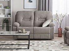 Klassischer 2-Sitzer Sofa Polsterbezug Taupe