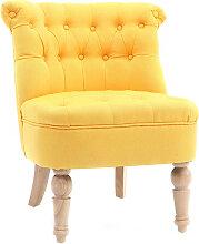 Klassischer Cocktail-Sessel, gelber Stoff ODEON
