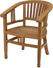 Klassischer Garten-Sessel aus massivem Teak-Holz