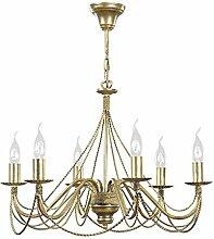 Klassischer Kerzen Kronleuchter 6 flammig