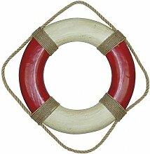 Klassischer Marine Rettungsring, Deko Rettungsring, Rot/Creme Ø 36 cm
