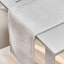 Klassischer Matelassé-Tischläufer mit elegantem