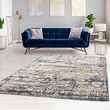 Klassischer Teppich Flachflor mit Ornamenten in
