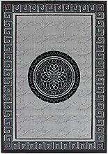 Klassischer Webteppich Denmark - Kolding Silber 200cm x 290cm 70% Polyester, 30% Modacryl Maschinengeweb