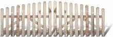 Klassisches Friesenzäune Gartentor günstig + zweiflügelig Maß 300 x 100 auf 80 cm (Breite x Höhe) aus Kiefer / Fichte Holz, druckimprägniert + genagel