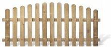 Klassisches Friesenzaun Zaunelement günstig Maß 200 x 95 auf 80 cm (Breite x Höhe) aus Kiefer / Fichte Holz, druckimprägniert + genagel