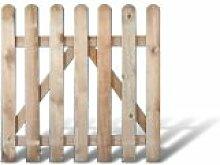 Klassisches Gartenzaun + Friesenzaun Zauntor günstig Maß 100 x 100 cm (Breite x Höhe) aus Kiefer / Fichte Holz, druckimprägniert + genagel