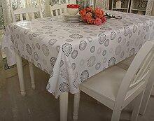 Klassisches Plastik-Tischtuch wasserdichtes ölbeständiges Tischmatten PVC-Tischdecke Waschen Sie weg Kaffee-Tischart und weise ländliche Tischdecke , #4 , 137*210cm