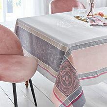 Klassizistische Jacquard-Tischdecke mit Fleckschutz