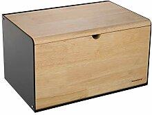 Klausberg Brotkasten Brotbox aus Metall/Holz 35,5