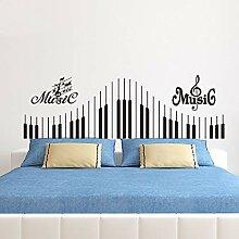 Klavier Tastatur Aufkleber, Musik Note Wand Vinyl