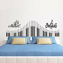 Klavier Tastatur Aufkleber, Musiknote Wand Vinyl
