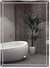 kleankin LED-Badezimmerspiegel Wandspiegel