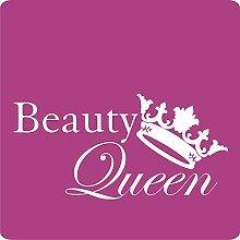 Kleb-drauf 1 Beauty-Queen-Aufkleber zur Dekoration