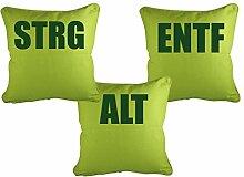 Klebefieber Dekokissen-Set STRG Alt ENTF B x H: