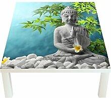 Klebefieber Design-Tisch Buddha mit Jasminblüten