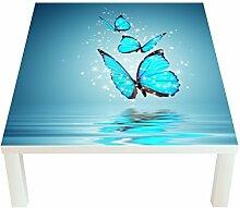 Klebefieber Design-Tisch Glitzernde Schmetterlinge