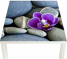 Klebefieber Design-Tisch Orchidee und Kiesel B x