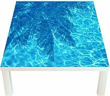 Klebefieber Design-Tisch Palmenschatten im Pool B