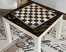 Klebefieber Design-Tisch Schachbrett B x H: 55cm x