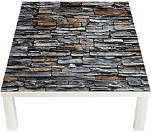 Klebefieber Design-Tisch Steinmauer - Anthrazit B
