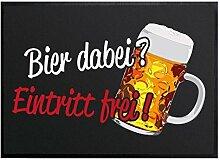 Klebefieber Fußmatte Bier Dabei B x H: 60cm x 40cm