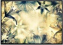 Klebefieber Fußmatte Blüten B x H: 85cm x 60cm